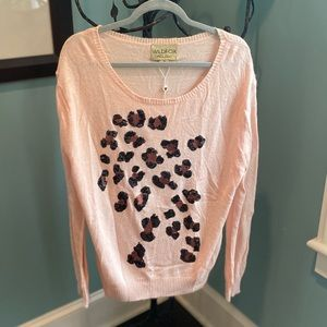 Wildfox Leopard Sequin Sweater NWT